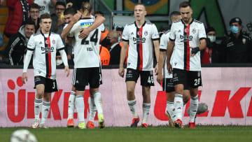 Beşiktaş oyuncularının gol sevinci
