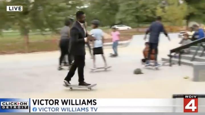 Victor Williams looking sick