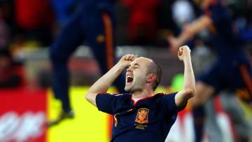 Andres Iniesta en la FIFA World Cup Final de 2010