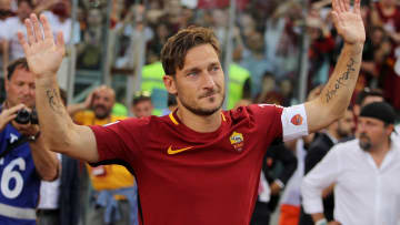 Totti began and finished his career at AS Roma