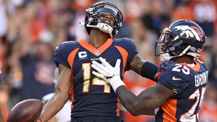Fantasy football picks for the Washington Football Team vs Denver Broncos Week 8 matchup, including Courtland Sutton and Terry McLaurin.
