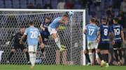 Sergej Milinkovic-Savic thumps in Lazio's final goal in a comeback win against Inter