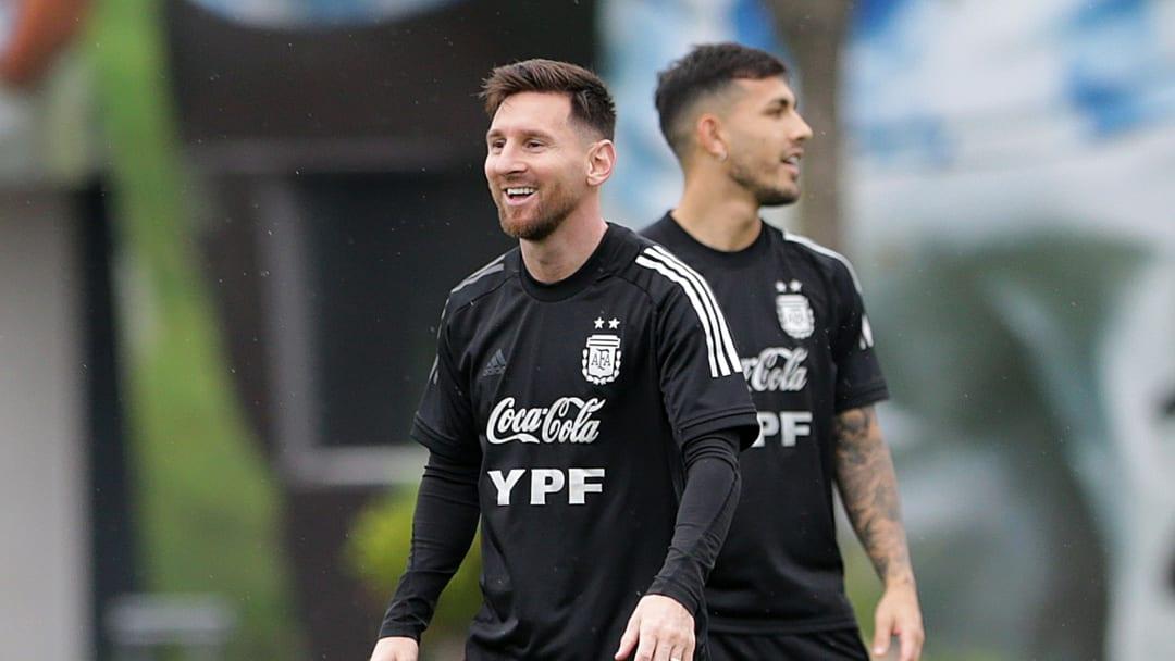 Messi entrenando