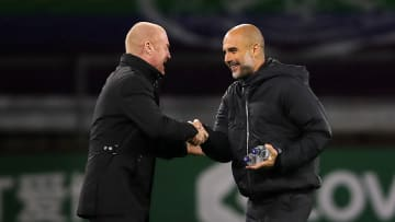 Dyche and Guardiola shake hands