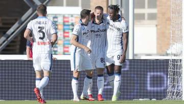 L'Atalanta festeggia un gol all'Empoli