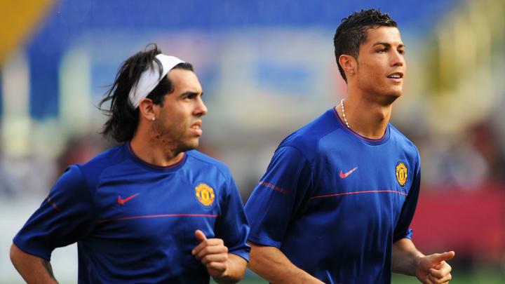 Tévez e Cristiano Ronaldo foram companheiros no United