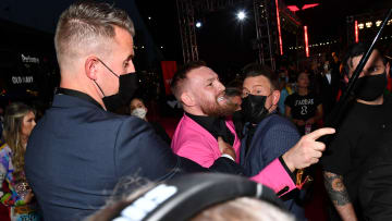 Conor McGregor has been accused of punching a man in rome.