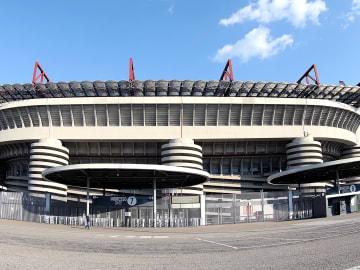 Vista esterna dello stadio di San Siro