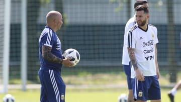 Sampaoli con Messi