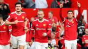Cristiano Ronaldo et ses partenaires sur la pelouse d'Old Trafford lors de la victoire face à Newcastle (4-1).