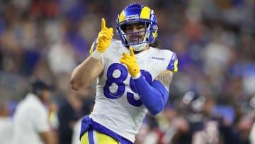 Fantasy football picks for the Los Angeles Rams vs Houston Texans Week 8 matchup, including Tyler Higbee, David Johnson and Van Jefferson.