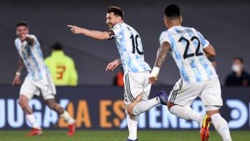 Lionel Messi opened the scoring against Uruguay.