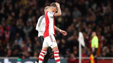 White hobbled off against Leeds