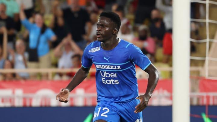 Bamba Dieng face à l'AS Monaco.