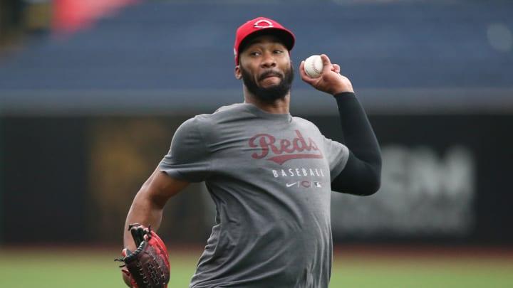 Sep 15, 2021; Pittsburgh, Pennsylvania, USA;  Cincinnati Reds relief pitcher Amir Garrett (50)