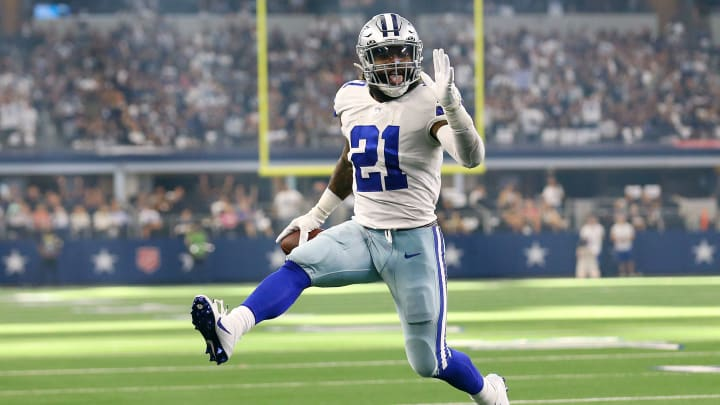 Fantasy football picks for the Dallas Cowboys vs New England Patriots Week 6 matchup, including Ezekiel Elliott, Hunter Henry and Dalton Schultz.
