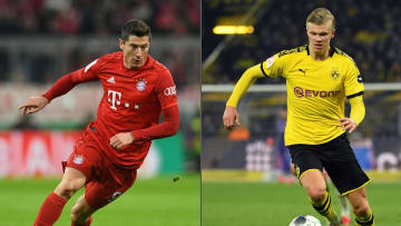 Robert Lewandowski and Erling Haaland are among the players with the best goal per game ratio in 2021