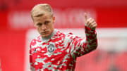 Van de Beek has barely featured for the Red Devils this season