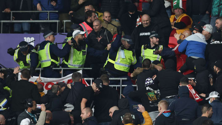 Hungary fans clashed with police