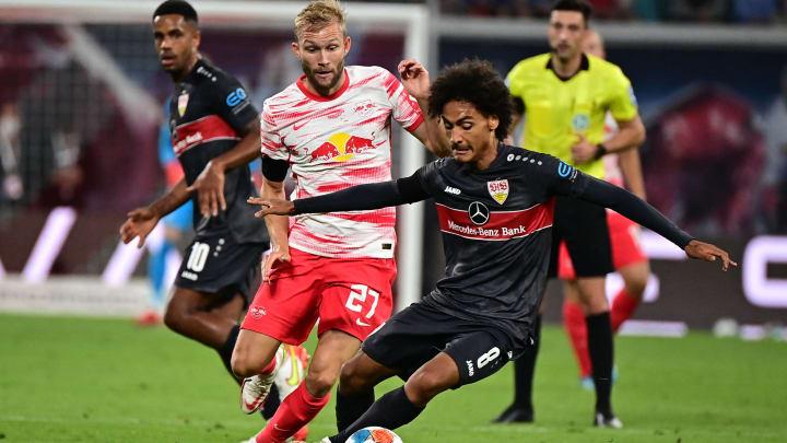 Enzo Millot bei seinem Bundesliga-Debüt gegen RB Leipzig