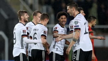 Jerman menjadi negara pertama yang lolos ke Piala Dunia 2022 usai menang 4-0 dari Makedonia Utara