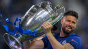 Giroud won the European Cup with Chelsea in his last season