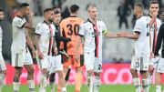 Beşiktaş oyuncularının üzüntüsü