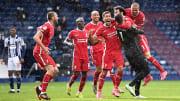 Alisson, Sadio Mane, Fabinho, Roberto Firmino, Mohamed Salah, Thiago
