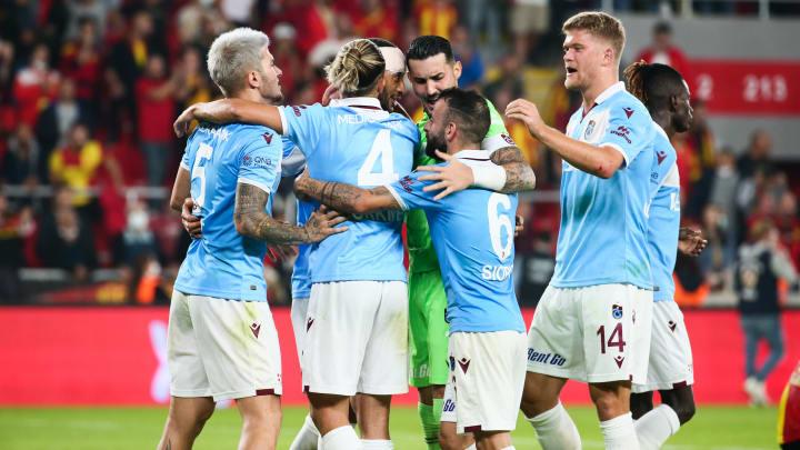 Trabzonspor oyuncularının gol sevinci