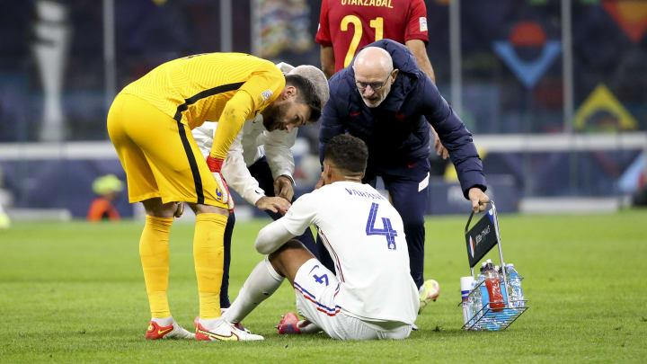 Raphaël Varane s'est blessé lors de la finale de la Ligue des Nations, avec les Bleus.