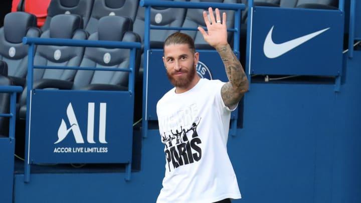 Sergio Ramos n'a toujours pas joué une minute avec le Paris Saint-Germain.