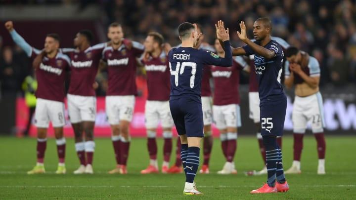 Atual campeão, Manchester City está eliminado   West Ham United v Manchester City - Carabao Cup Round of 16