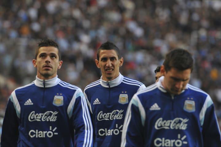 Lionel Messi, Angel Di Maria, Fernando Gago