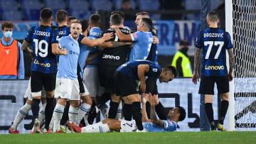 La rabbia dell'Inter dopo il gol della Lazio