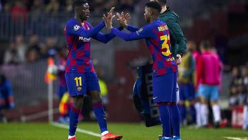 Ansu Fati et Ousmane Dembélé