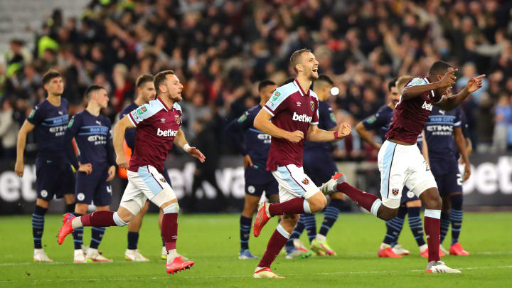 West Ham knocked Man City out