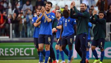İtalyan oyuncuların gol sevinci