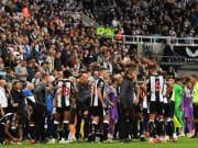 Il Newcastle nella gara contro il Tottenham