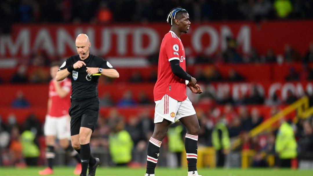 Pogba ignored Solskjaer after being sent off against Liverpool