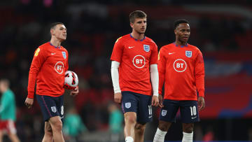 Phil Foden, Mason Mount and Raheem Sterling all started for England