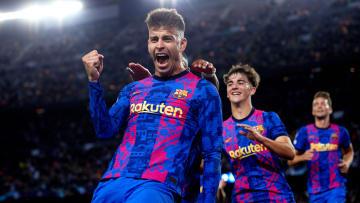 Gerard Piqué anotó el primer gol del Barcelona