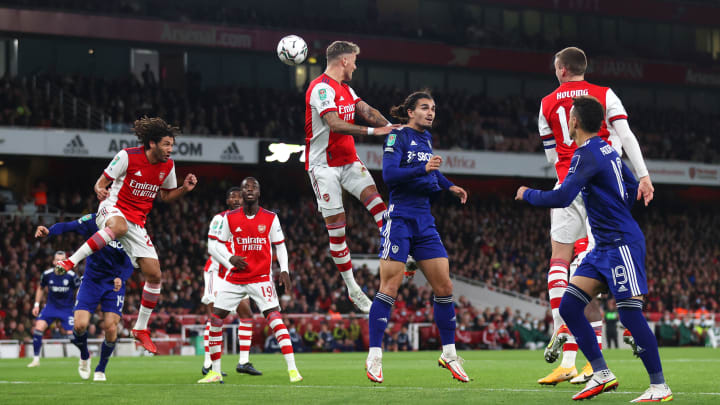 Rotated Arsenal side fails to show much spark in Carabao win over Leeds