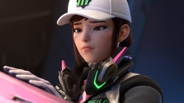 """One Overwatch fan has created a skin for Korean hero, Hana """"D.va"""" Song, inspired by the recently released hit television show, Squid Game."""