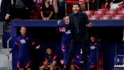 Diego Simeone ran down the tunnel at full-time