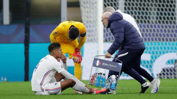 Varane limped off before half-time in the Nations League final