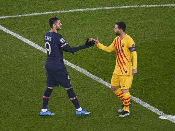 Ganz so harmonisch scheint es zwischen den heutigen Teamkollegen Lionel Messi und Mauro Icardi nicht mehr zu sein