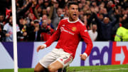 Cristiano Ronaldo, attaquant de Manchester United et buteur face à l'Atalanta.