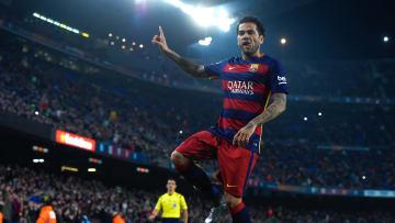 Dani Alves fue el lateral derecho del Barcelona durante ocho años