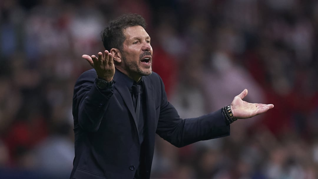Simeone ran down the tunnel at full-time