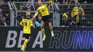 Haaland balançou a rede duas vezes diante do Mainz